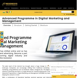 Advanced Programme in Digital Marketing and Management
