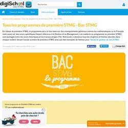 Le programme des matières en première STMG