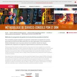 Programme de gestion de la sécurité des procédés l PSM de DuPont & méthodologie ORM