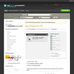 Ecosystem: the Netvibes Widget Directory - Widgets - Programme T