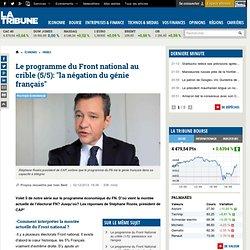 """Le programme du Front national au crible (5/5): """"la négation du génie français"""""""