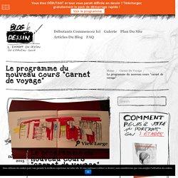 """Le programme du nouveau cours """"carnet de voyage"""""""