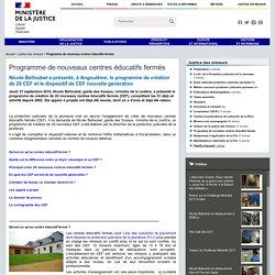 Programme de nouveaux centres éducatifs fermés