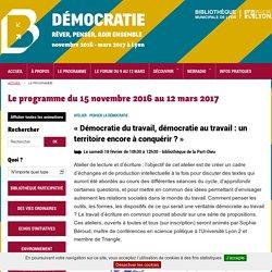 Le programme du 15 novembre 2016 au 12 mars 2017