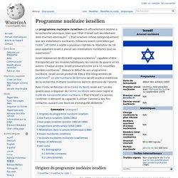 Programme nucléaire israélien