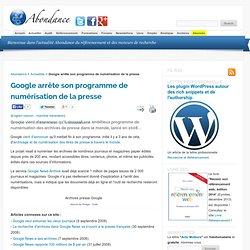 Google arrête son programme de numérisation de la presse