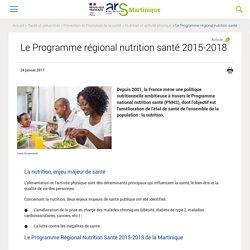 Le Programme régional nutrition santé 2015-2018