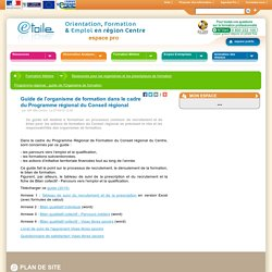 SUIVI FOAD- guide de l'Organisme de formation (RÉGION CENTRE)
