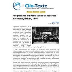 Programme du SPD à l'issue du congrès d'Erfurt (ClioTexte)