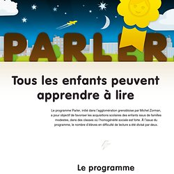Programme Parler de Michel Zorman - Lutter contre l'échec scolaire
