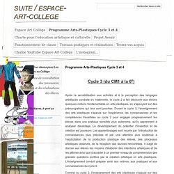 Programme Arts-Plastiques Cycle 3 et 4 - espace-art-college