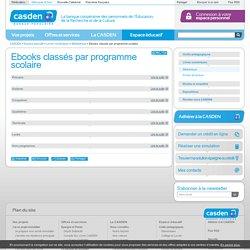CASDEN Ebooks classés par programme scolaire