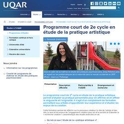 Étude de la pratique artistique - UQAR - Attestation d'études de 2e cycle (15 crédits)