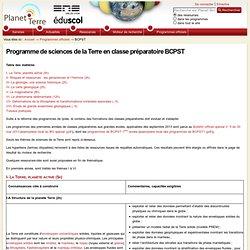Programme de sciences de la Terre en classe préparatoire BCPST — Planet-Terre