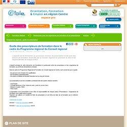 Programme régional : guide du prescripteur