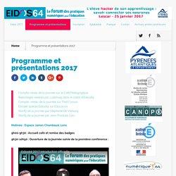 Programme et présentations 2017