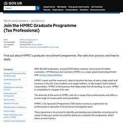 Join the HMRC Graduate Programme (Tax Professional) - Detailed guidance