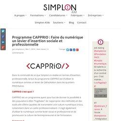Programme CAPPRIO : Faire du numérique un levier d'insertion sociale et professionnelle