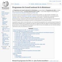 Programme du Conseil national de la Résistance