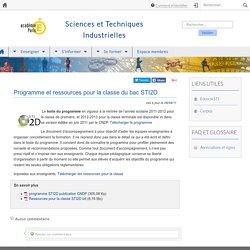 Programme et ressources pour la classe du bac STI2D