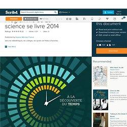 Programme de La science se livre 2014