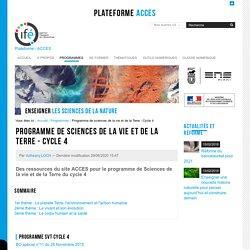 Programme de sciences de la vie et de la Terre au Cycle 4