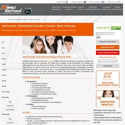 Programme scolaire Français de 5ème, Collège