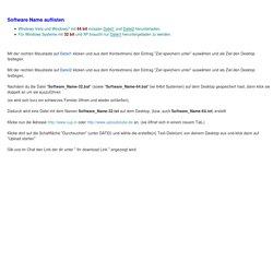 - Windows: Programme: Software Name auflisten