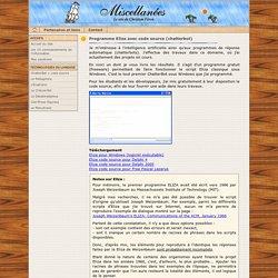 Programme Eliza avec code source (chatterbot)
