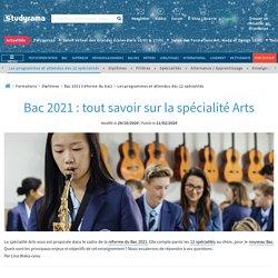 Le programme de la spécialité Arts du Bac 2021