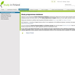 Study programme database search