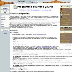 Programme pour une yourte