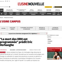 """""""La mort des DRH est programmée"""" prédit Eric Verhaeghe"""