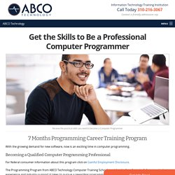 Get the Skills to Be a Professional Computer Programmer