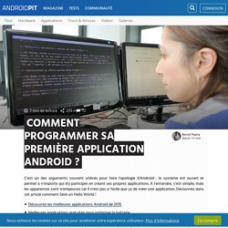 Comment programmer sa première application Android