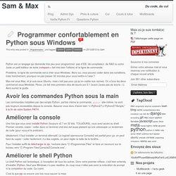 Programmer confortablement en Python sous Windows
