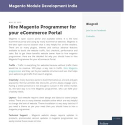 Hire Magento Programmer for your eCommerce Portal