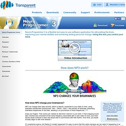 Neuro-Programmer 3 - Innovative Brainwave Entrainment Software