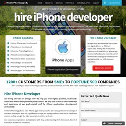 Hire Dedicated iPhone App Developer