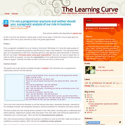 a pragmatic analysis of our role in business   The Learning Curve