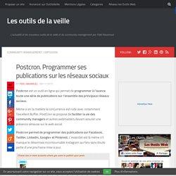Postcron. Programmer ses publications sur les réseaux sociaux