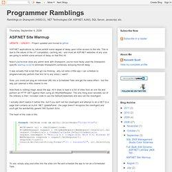 ASP.NET Site Warmup