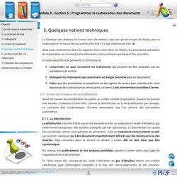 Module 8 - Section 5: Programmer la restauration des documents - 5. Quelques notions techniques