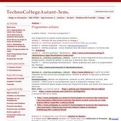 Programmer arduino - TechnoCollegeAutant-3eme