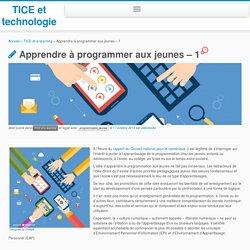 Apprendre à programmer aux jeunes – 1 – TICE et technologie