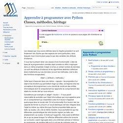 Apprendre à programmer avec Python/Classes, méthodes, héritage