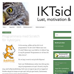 Programmera med Scratch för nybörjare – IKTsidan