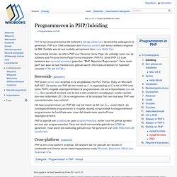 Programmeren in PHP/Inleiding