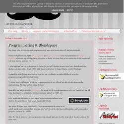 Programmering & Blendspace