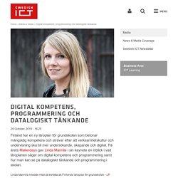 Digital kompetens, programmering och datalogiskt tänkande